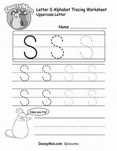 uppercase letter s tracing worksheet doozy moo