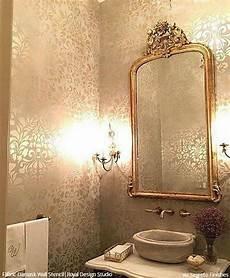 bathroom wall stencil ideas wall stencils the secret to remodeling your bathroom on a budget