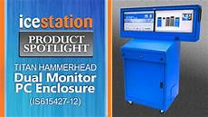Tilan Komputer Monitor dual monitor computer enclosure icestation titan