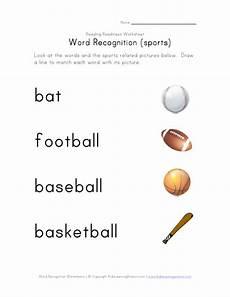 sports related worksheets 15870 word recognition sports worksheet for kindergarten 2nd grade lesson planet
