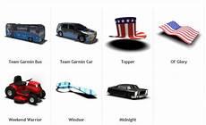 Garmin Garage Vehicles by Garmin Vehicle Fahrsymbole Navigationssysteme