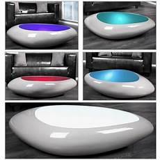couchtisch led design couchtisch delta weiss led farbwechsel