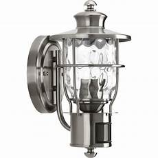 progress lighting beacon collection 1 light stainless steel motion outdoor wall lantern p6025