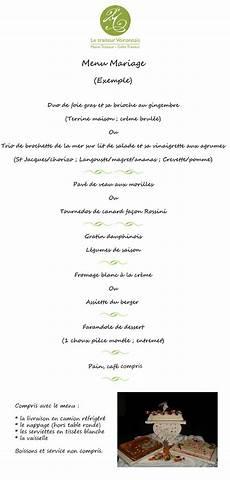 Prix Menu Mariage Traiteur Cartes Et Menus Le Traiteur Voironnais