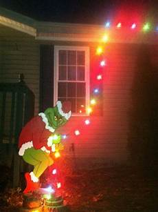 Outdoor Decorations Grinch by Grinch Yard Outdoor Decorations By