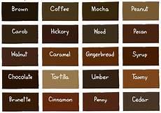 Brown Hair Colors Chart