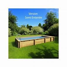 piscine semi enterrée bois prix piscine bois rectangulaire hors sol semi enterr 233 e