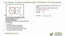conditional probability worksheet answers mathbits 5982 venn diagram conditional probability gcse igcse maths 10th grade algebra