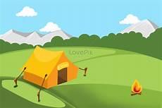 Tenda Tamasya Liar Api Unggun Latar Belakang Rumput Gambar