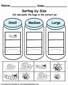 free printable sorting worksheets for grade 7981 sorting by size worksheet sorting kindergarten kindergarten math worksheets math sort