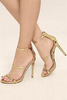 chic gold heels nubuck heels high heel sandals