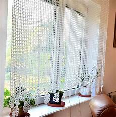 Curtain Crocheted Curtain Crochet Curtain By Katescrochetwork