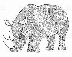 black white doodle animal ethnic patterned