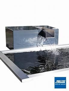 Wasserfall Garten Modern - garten wasserfall aluminium kubus kjaer gartenbrunnen
