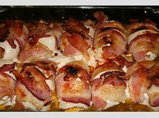 bacon wrapped smoked gouda stuffed chicken breasts_image