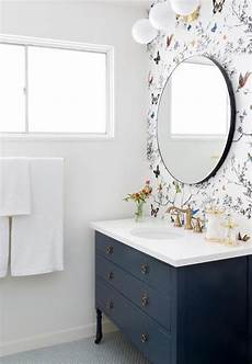 wallpaper bathroom ideas 25 chic ways to use wallpaper in a guest bathroom