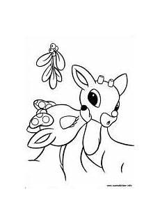 Ausmalbilder Rentier Rudolph Ausmalbilder Rudolph Mit Der Roten Nase Zum Drucken