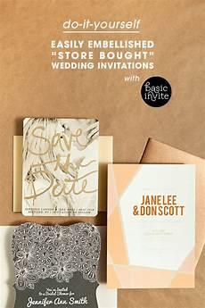 Wedding Invitations Sts easily embellished wedding invitations with basic invite