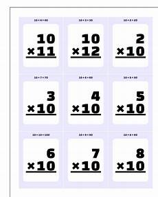 3rd grade math flash cards printable 10786 multiplication by 10 11 12 flash cards