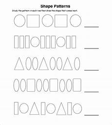 shape patterns worksheets 244 free 13 sle patterning worksheet templates in pdf ms word