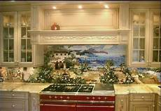 Kitchen Tile Murals Tile Backsplashes Custom Kitchen Mural Backsplash Mosaics By Vita