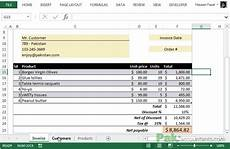 free excel invoice template v1 0 with customer and product list unlocked download ready