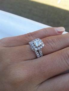 15 photo of wedding band to go with princess cut engagement ring