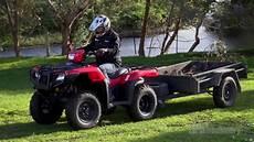 honda trx500fm2 atv review farms farm machinery