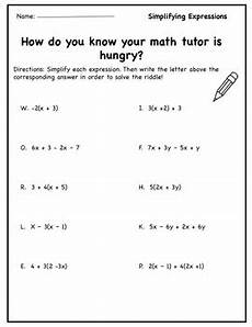 algebra simplify expressions worksheets 8391 simplifying expressions worksheet simplifying algabraic expressions activity