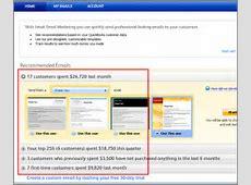 quickbooks send email using