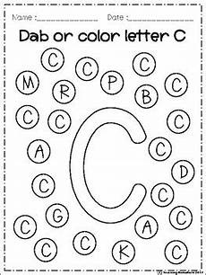 finding letter c worksheets 24054 free alphabet dab a z by teaching richarichi tpt