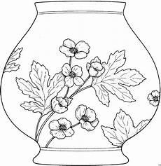 vase mit blumenbild ausmalbild malvorlage blumen