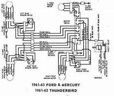 Ford Thunderbird 1961 1962 Windows Wiring Diagram