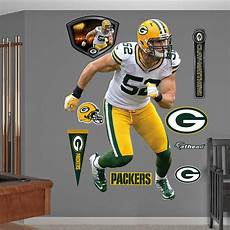 green bay packers wall stickers fathead green bay packers clay matthews away decal