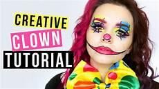 Creative Clown Makeup Tutorial Kost 252 Midee F 252 R Karneval
