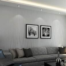 Modern Silver Gray Striped Wallpaper For Wall Flocked