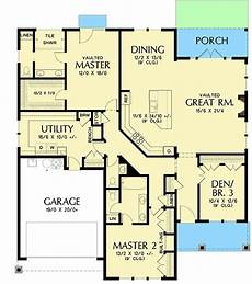 house plans with 2 master suites plan 69691am one story house plan with two master suites