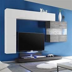 tv podest design wohnwand mit tv podest wei 223 hochglanz eiche wenge