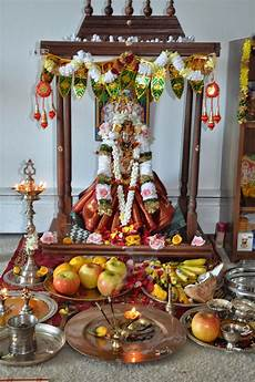Decoration In Home by Varalakshmi Nonbu Festival Delicacies Decor Pooja