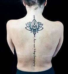 50 back spine tattoos for women 2020 tribal flower