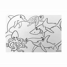 unterwassertiere malvorlagen m zeichnen und f 228 rben