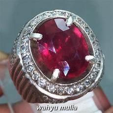 cincin batu permata ruby pigeon merah delima asli kode 1166 wahyu mulia