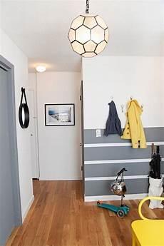 Ideen F 252 R Wand Streifen Querstreifen Im Flur Gelbe