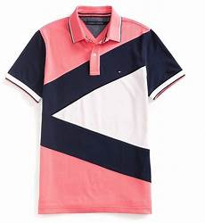 shop for hilfiger sale custom fit pieced polo