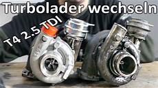 t4 2 5 tdi turbolader wechseln teil10