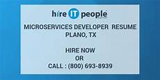 microservices developer resume plano tx hire it we get it done