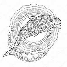 Malvorlage Mandala Delfin Delphin Und Mandalas Stockvektor 169 Sliplee 114412170