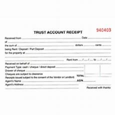 property management trust account receipt paper stationery receipt books real estate