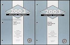 best car repair manuals 2003 cadillac seville regenerative braking 2003 cadillac seville repair shop manual original 2 volume set