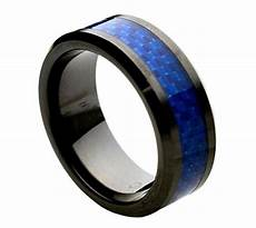 comfort fit blue carbon fiber black ceramic 8mm beveled